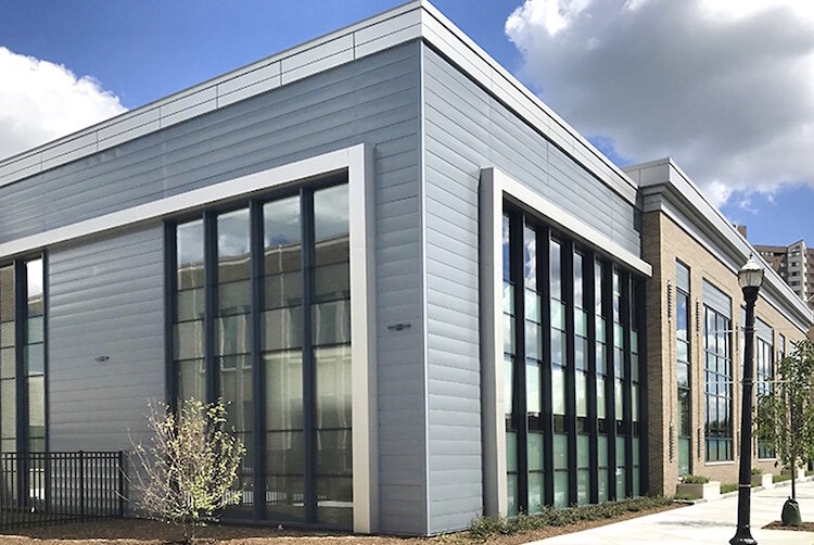 The new Bronson Testing Lab is a 55,000-square-foot building between South Burdick and John streets in property that was once the Kalamazoo Gazette.