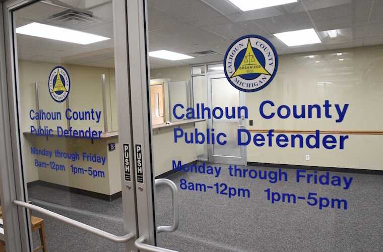 The Calhoun County Public Defender's office is on the third floor in the Toller Building.