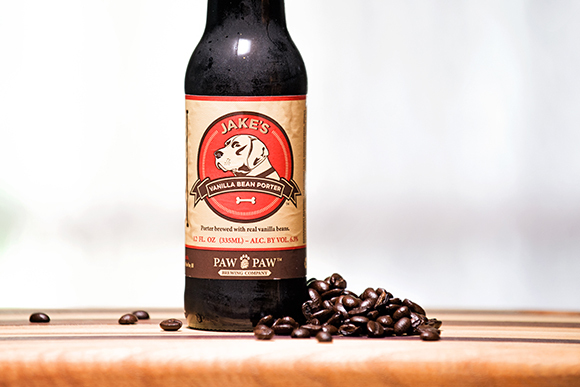 Jake�s Vanilla Bean Porter made by Paw Paw Brewing Company