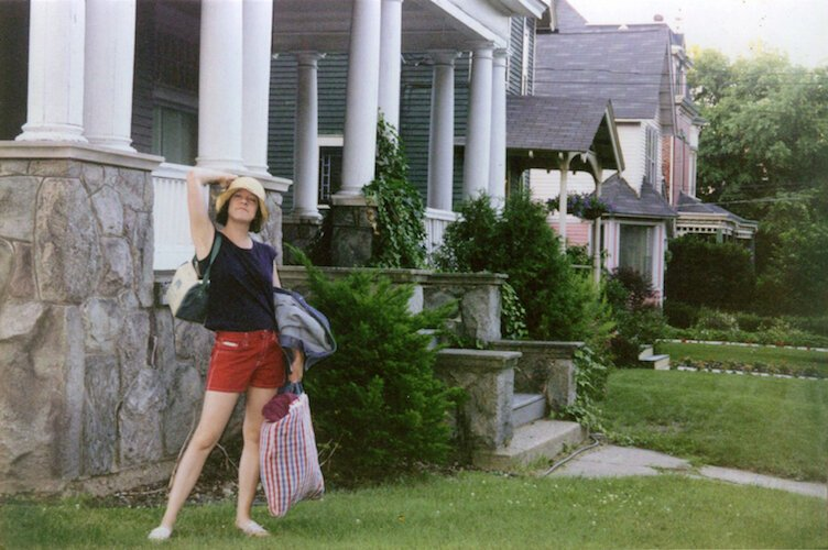 In 2000 on the lawn below Colleen Wolpert's Stuart Avenue apartment.