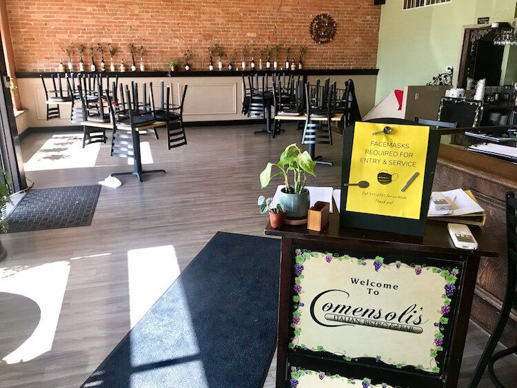 To survive the COVID-19 slowdown, Comensoli's Italian Bistro changed from being an almost exclusively sit-down dining business to one with significant pick-up and take-out sales.