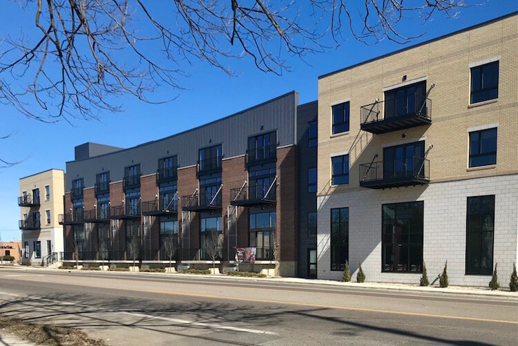 The Creamery is a new $14.7 million development on Portage Street at Lake Street  in the Washington Square area of Efison Neighborhood.