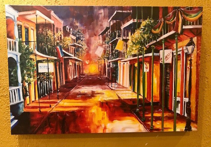 Some artwork inside the soon-to-open Creole 'n' Soul restaurant Is intended to give a feel of New Orleans.