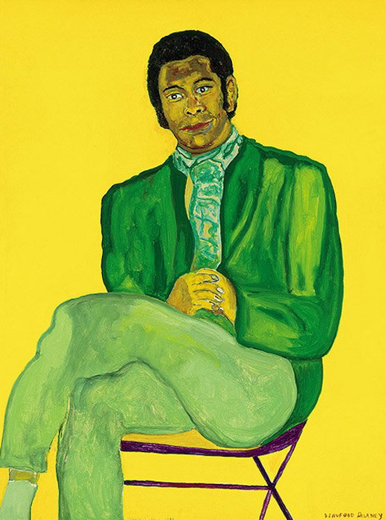 Beauford Delaney, Portrait of a Young Musician, 1970, Acrylic on canvas, Photo Credit : Marc Bernier, © 2018 Estate of Beauford Delaney, by permission of Derek L. Spratley, Esquire, Court Appointed Administrator. Courtesy American Federation of Arts