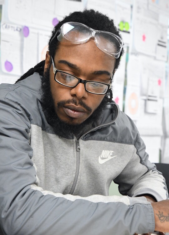 DENSO employee Deandre Muldrow enrolls in the GED program.