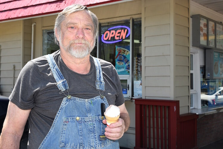 No. 5 Dennis Hite has come to this Dairy Queen since his dad brought him here In the 1950s.