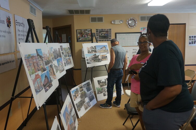 Residents look over possibilities for  the 1600 block of E. Main St.