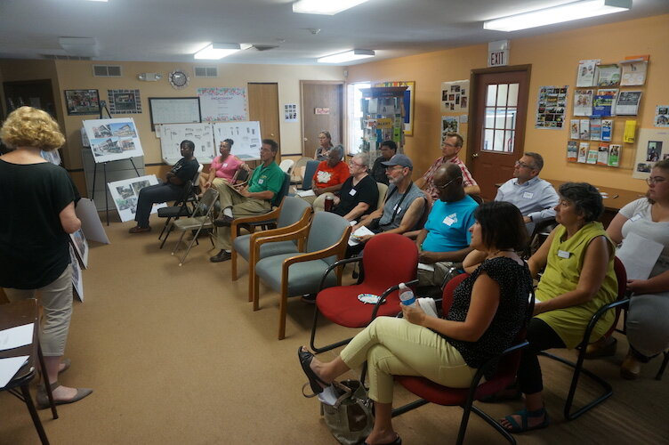 Neighbors turned out to offer their ideas for  for the 1600 block of East Main Street.