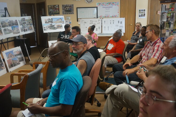Residents turned out to talk about their vision for  the 1600 block of East Main Street.