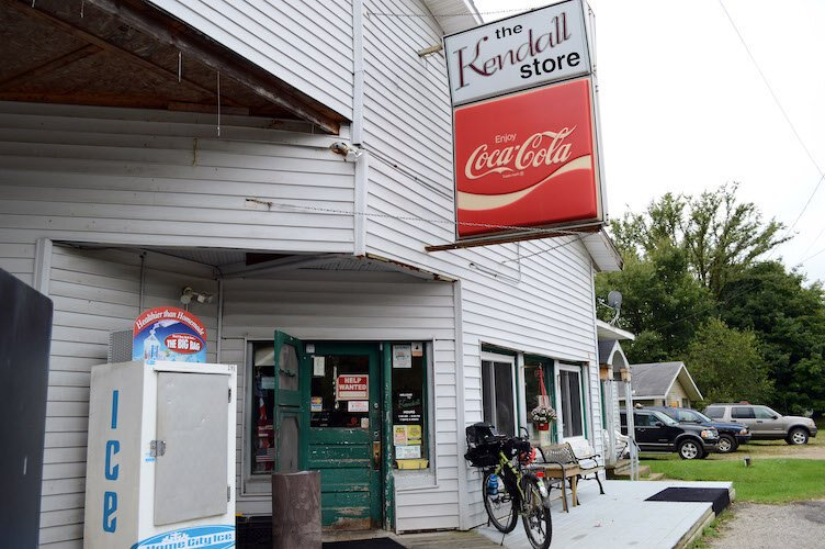 One of many small-town stops off of the trail for refueling, The Kendall Store.