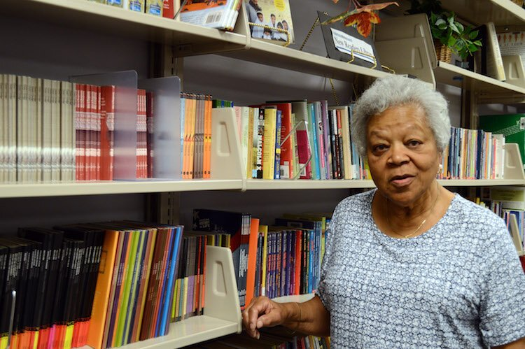 "Dorothy Kemp, a tutor for the Kalamazoo Literacy Council says: ""I always like to keep involved, to help people grow in whatever way they can."""