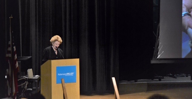 U.S. Senator Debbie Stabenow addresses the conference attendees.