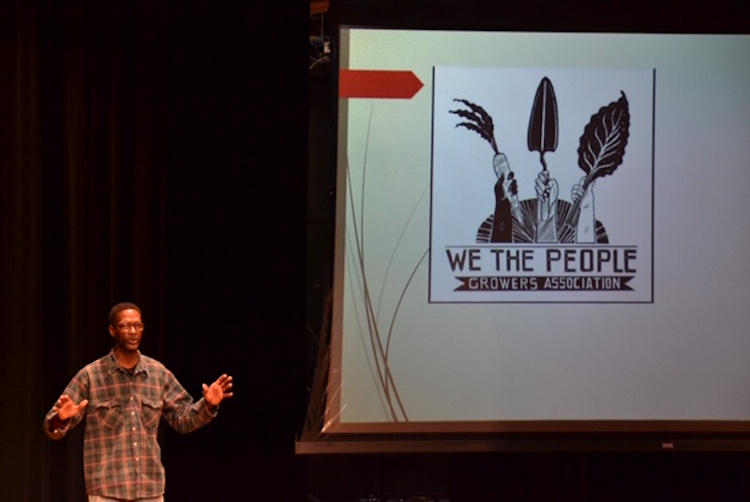 Melvin Parson presented an inspiring keynote address about his story of becoming a farmer, founding We the People Grower Association and launching We the People Opportunity Center in Ypsilanti.
