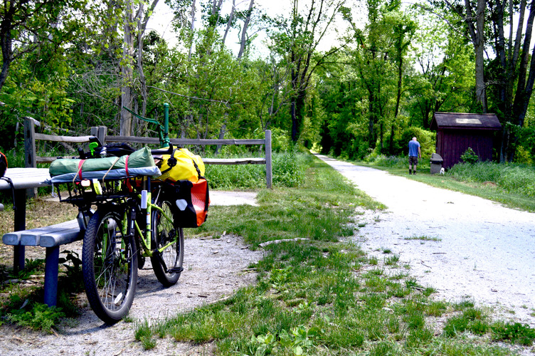 Sherman, the Surly Troll, on the Kal-Haven Trail.
