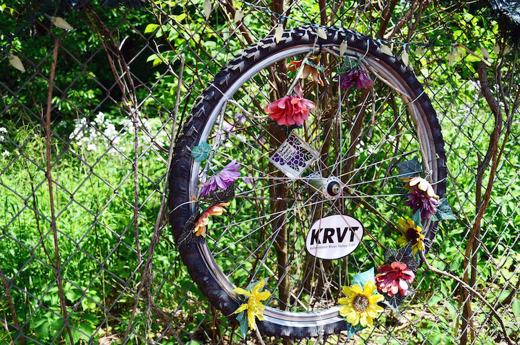 In memory of the five cyclists killed as they rode near Markin Glen Park.