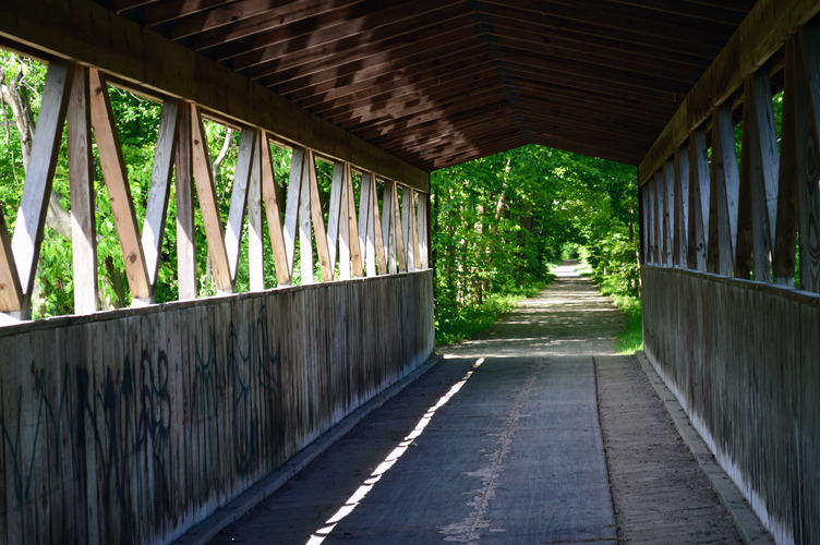 Covered bridge, Kal-Haven, near South Haven.