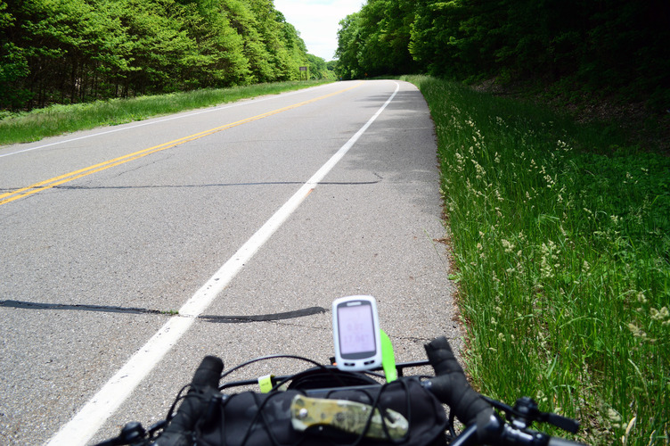 Known as the Blue Star Highway to drivers, it's the US Bicycle Route 35 for bikers.