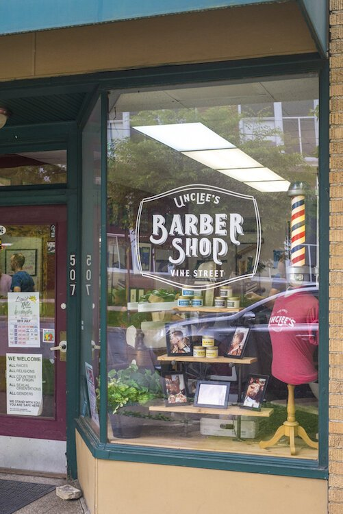 Uncle's Barber Shop is a local barbershop with a neighborhood flair.