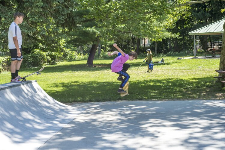 Davis Street Park draws a diverse crowd, including families, students, skateboarders and concertgoers.