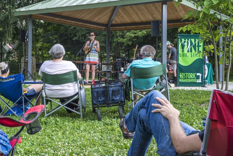 Efforts in Vine to offer free public music events have been successful, like this recent concert at Davis Street Park.