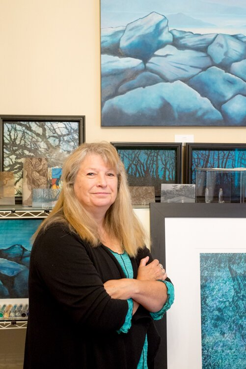 A lover of nature and trees in particular, artist Linda Rzoska has been creating in her Vine studio for almost 20 years.