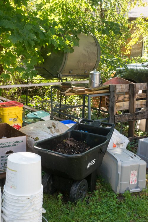 Making compost is an art that Chris Broadbent, owner of The Bike Farm is learning to perfect.