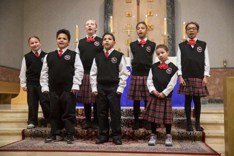 The Eastside Choir performs twice annually at St. Mary's Catholic Church.