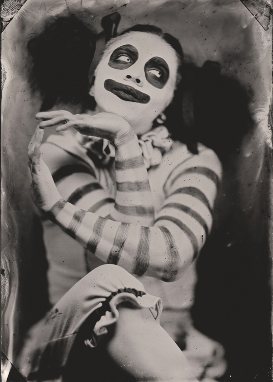 Eric Hennig captured this tintype of a clown from Theatre Bizarre, a Halloween show at Detroit's Masonic Temple.