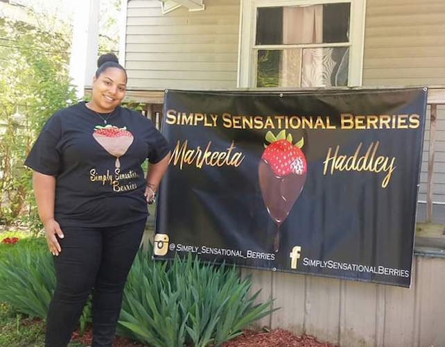 Markeeta Haddley started her business at home and now is in a business incubator in downtown Battle Creek.