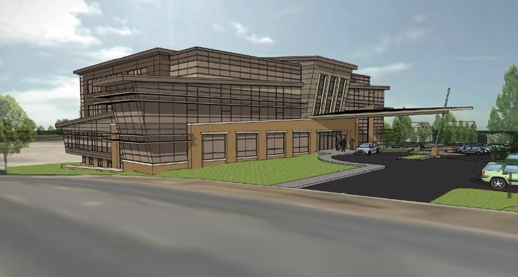 Artists rendering of a new health clinic for the city's south side