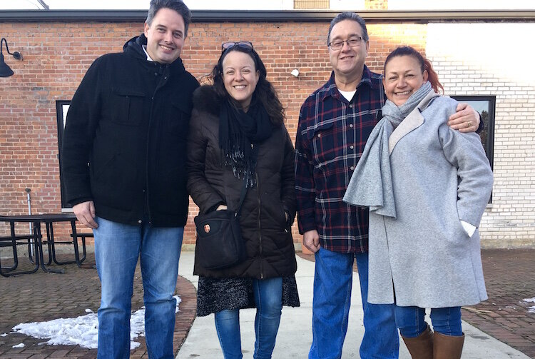 The new restaurant, to be called Frida's, will be located at 1319 Portage St. It will be owned by, from left, Thierry Hazes, Aurora Gurdillo, Hilda De La Rosa and Fernando Aguirre.