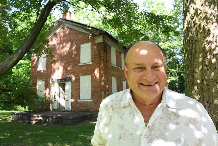 Hans Stark recently purchased Battle Creek's oldest home at 373 Riverside Drive.