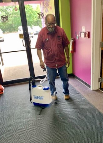 At New Genesis, classrooms are cleaned three times a day with the third time done by maintenance staff. The learning program has hired more maintenance help, purchased more cleaning machines and installed new flooring to make it easier to sanitize du