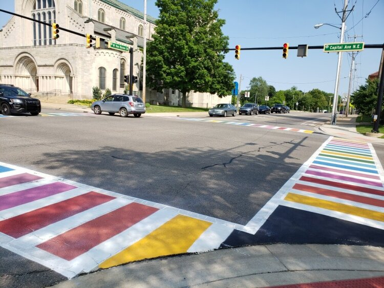 Supporters say rainbow crosswalks are a big deal for Battle Creek.