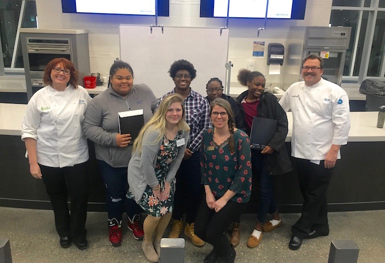 UrbanZone youth take many field trips, including this one to the Kalamazoo Valley Community College Culinary Arts School.