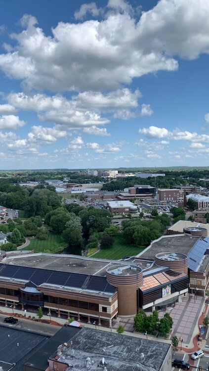 A view overlooking Battle Creek from the top of  The Milton.