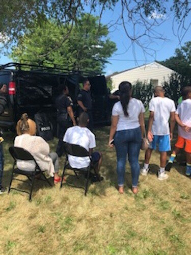 Youth participate in a Police Athletic League and New Level Sports event in the summer of 2019,