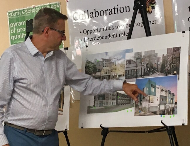 Steven Hassevoort, of InForm Architecture, says community residents seem to be leaning away from structures that look old and historic in favor of those with a more contemporary flair.