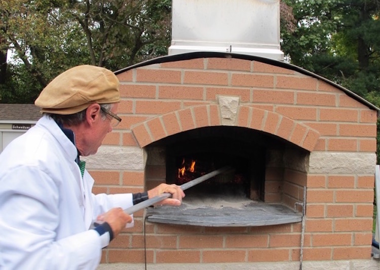 Orignally, the Schweitzers' oven was to be for pizzas.