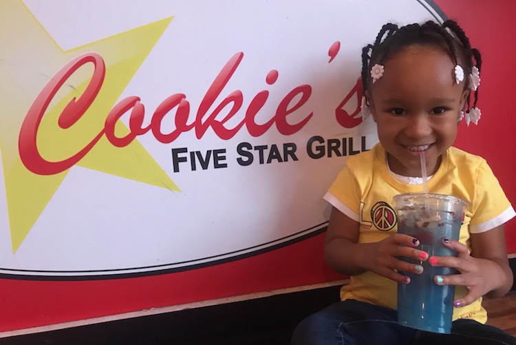 Christen McKinney, 4, daughter of co-owners Christen and Latasha McKinney, loves being at Cookie's.