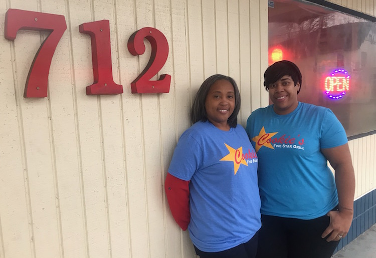 Co-owners Christen McKinney and wife Latasha McKinney keep it all in the family at Cookie's Five Star Grill.