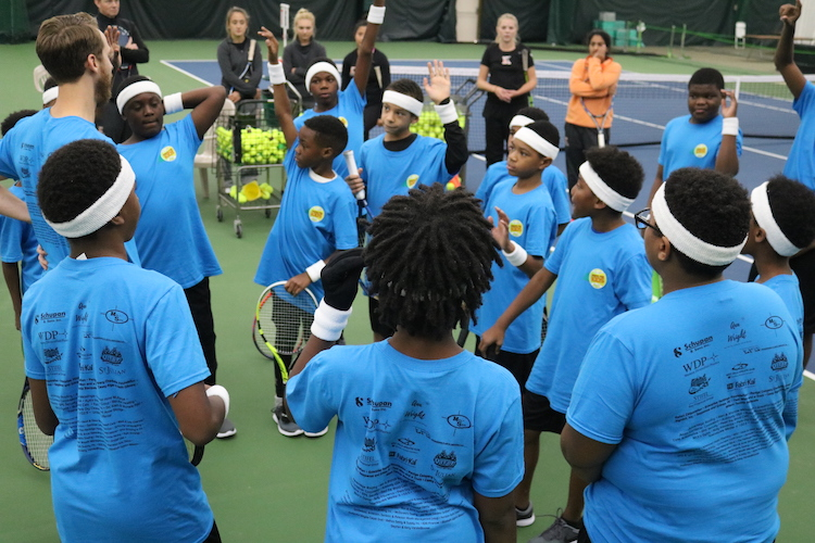 Serve for Kids Tennis Event is an annual experience for S.T.R.E.E.T. youth.
