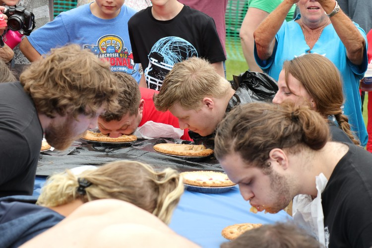 There's also pie eating fun at Leilapalooza.