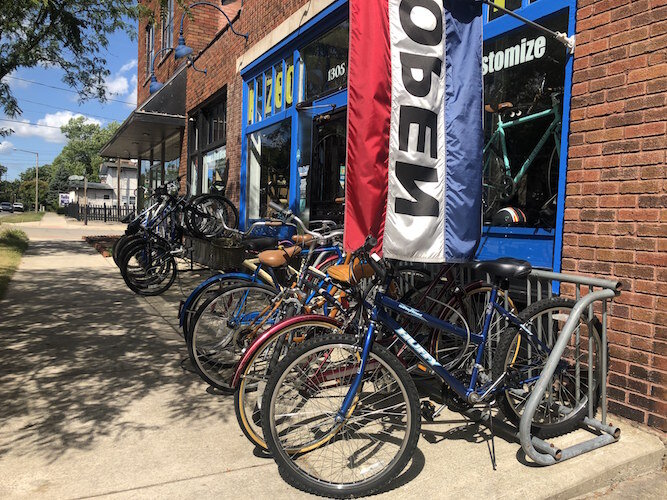 Looking for an old Schwinn? You can find it at Kzoo Swift and it will be repaired to last another 30 years, says store owner Ryan Barber.