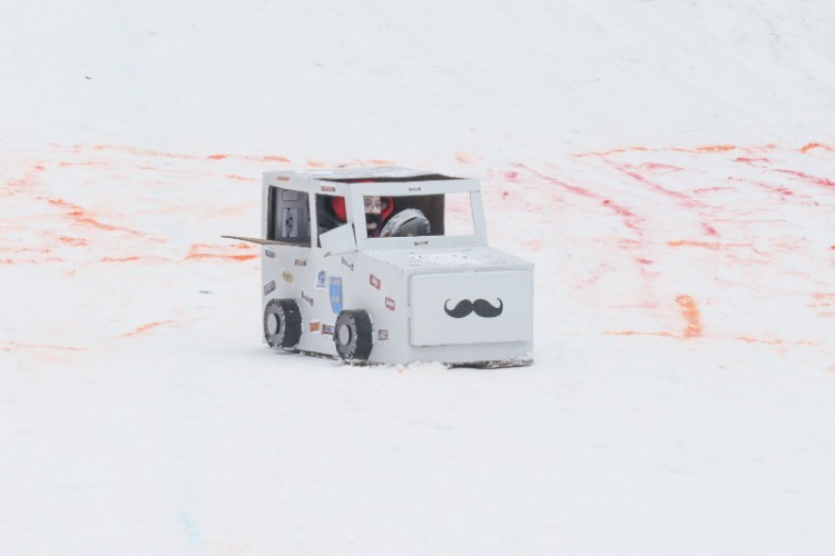 A mustache mobile seen at the 2019 Festivus.