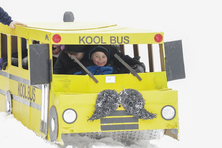 A Kool Bus on the slopes at the 2019 Festivus.