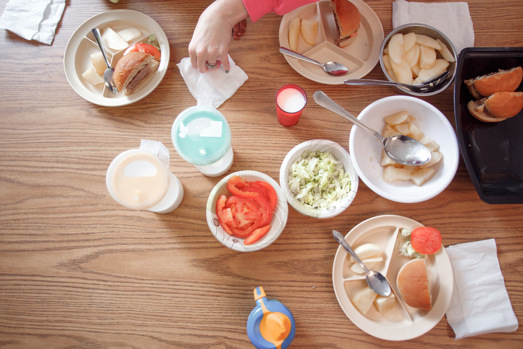 A lunch table at the Migrant Head Start Program in Sparta. Photo by Autumn Johnson