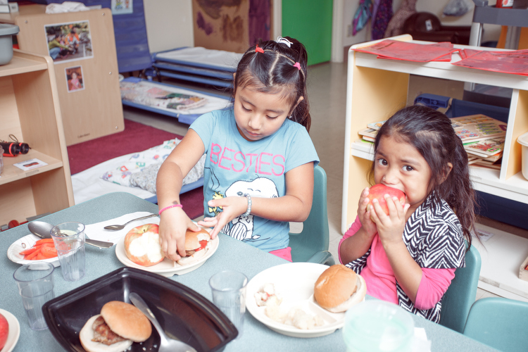 Enjoying lunch at the Head Start program in Sparta. Photo by Autumn Johnson