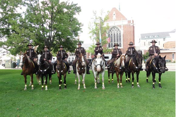 Mounted Police and their horses