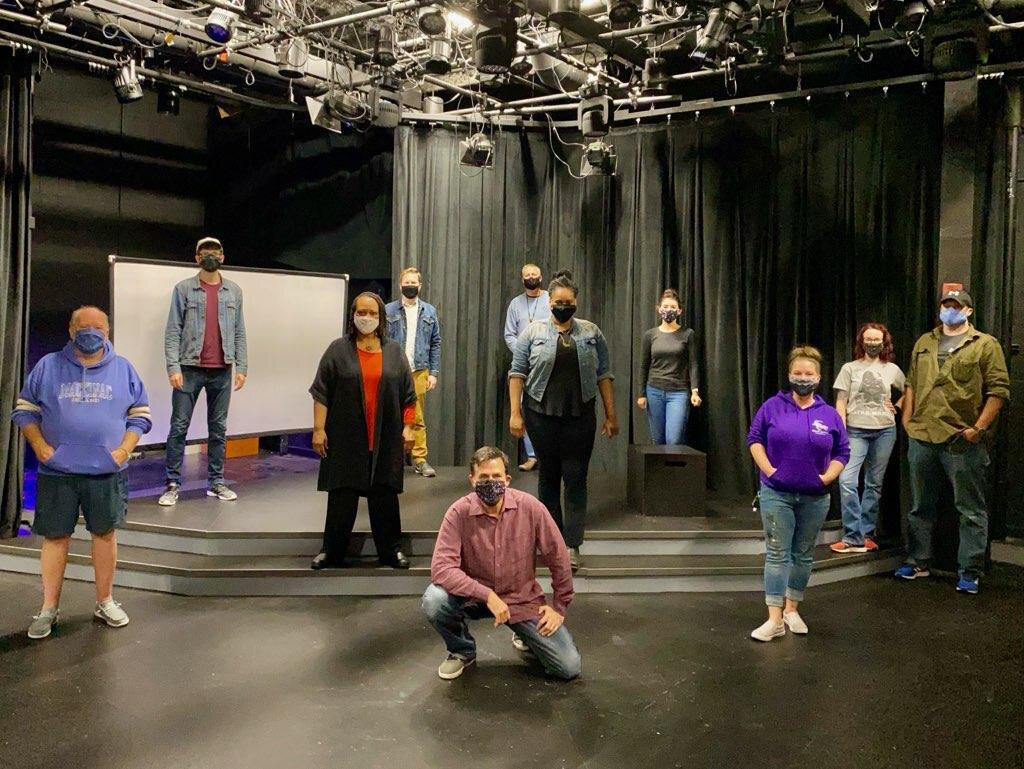 "The crew of  ""The Conviction of Lady Lorraine,"" a one-woman show written and performed by Western Michigan University theatre professor Dwandra Nickole Lampkin, filmed cinematically and shown as a virtual event late October."